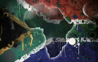 South African messy flag