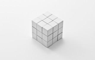 white rubik's cube