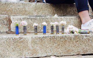 Flowers in grenades