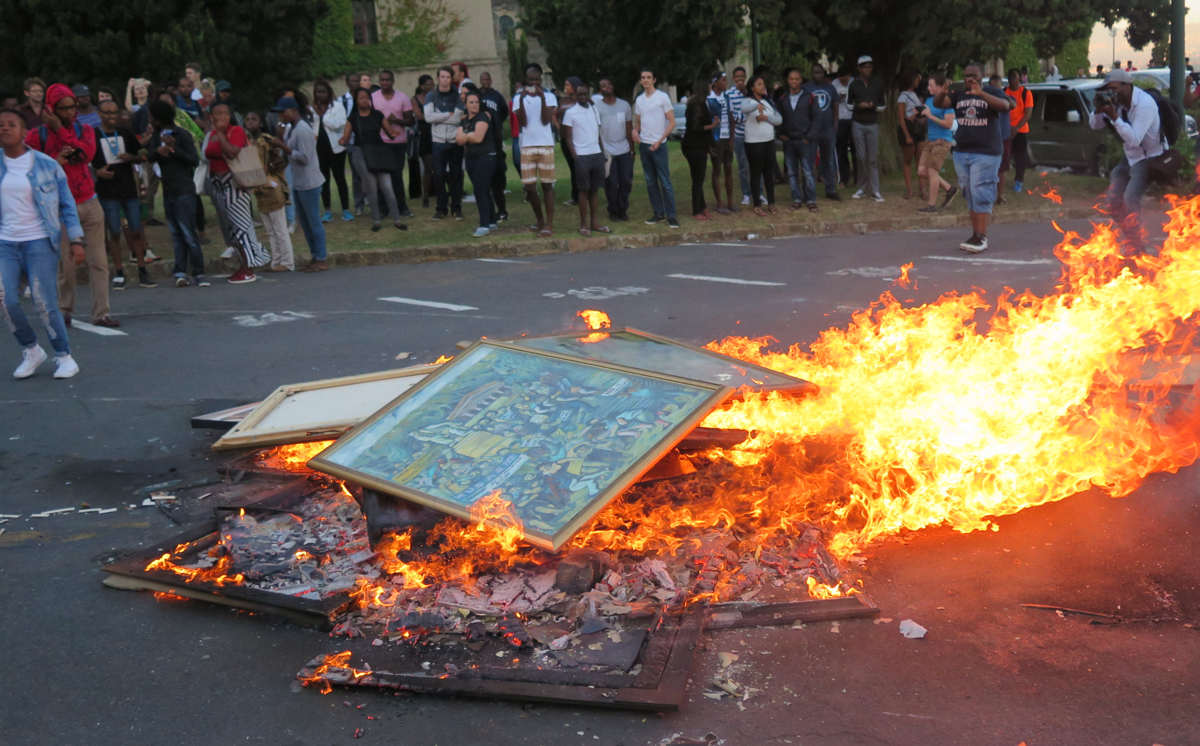 burning paintings UCT