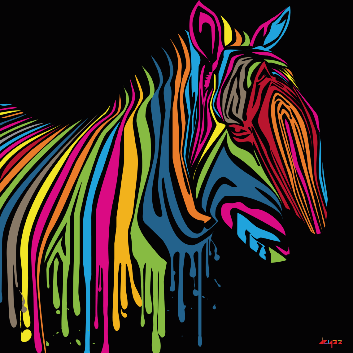 Mixed colour zebra
