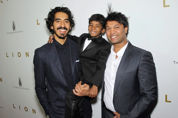Cast of Lion with Saroo Brierley