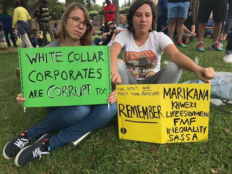 Anti Zuma march protest poster