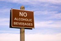 No Alcohol beach sign