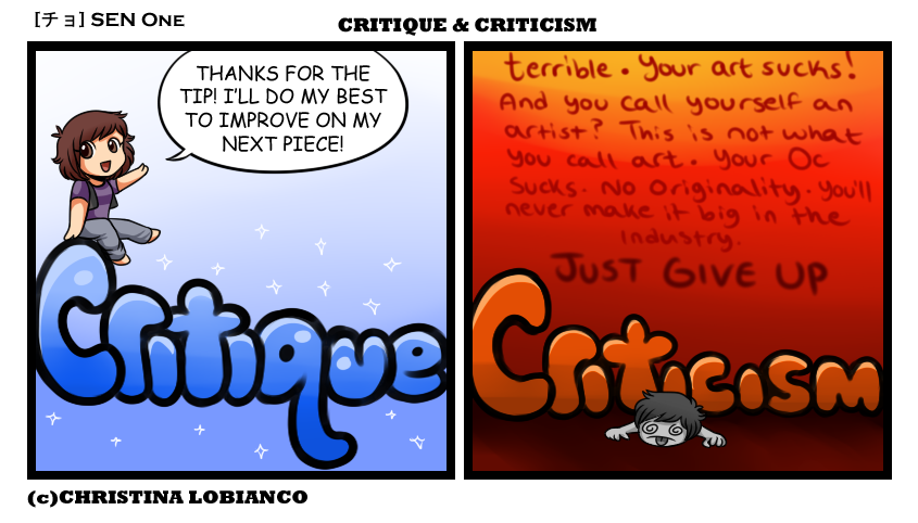 criticism vs critique