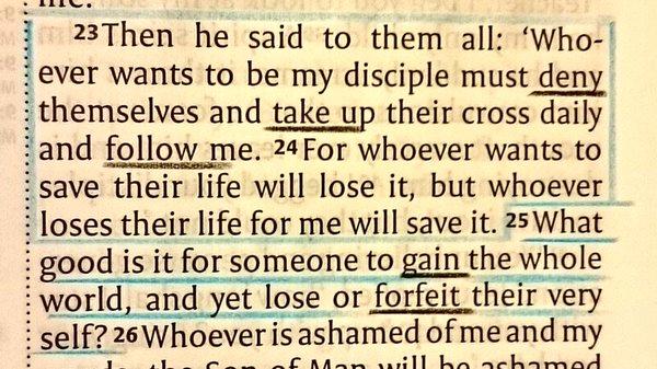 luke 9.23 prayer
