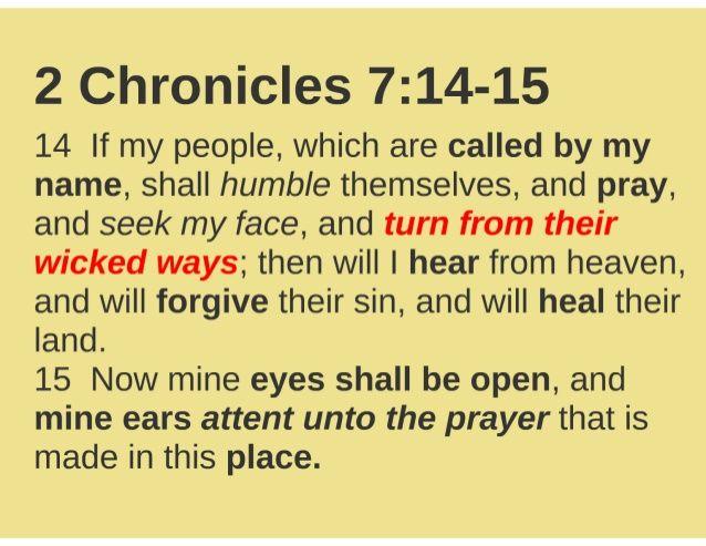 2 Chronicles 7 prayer