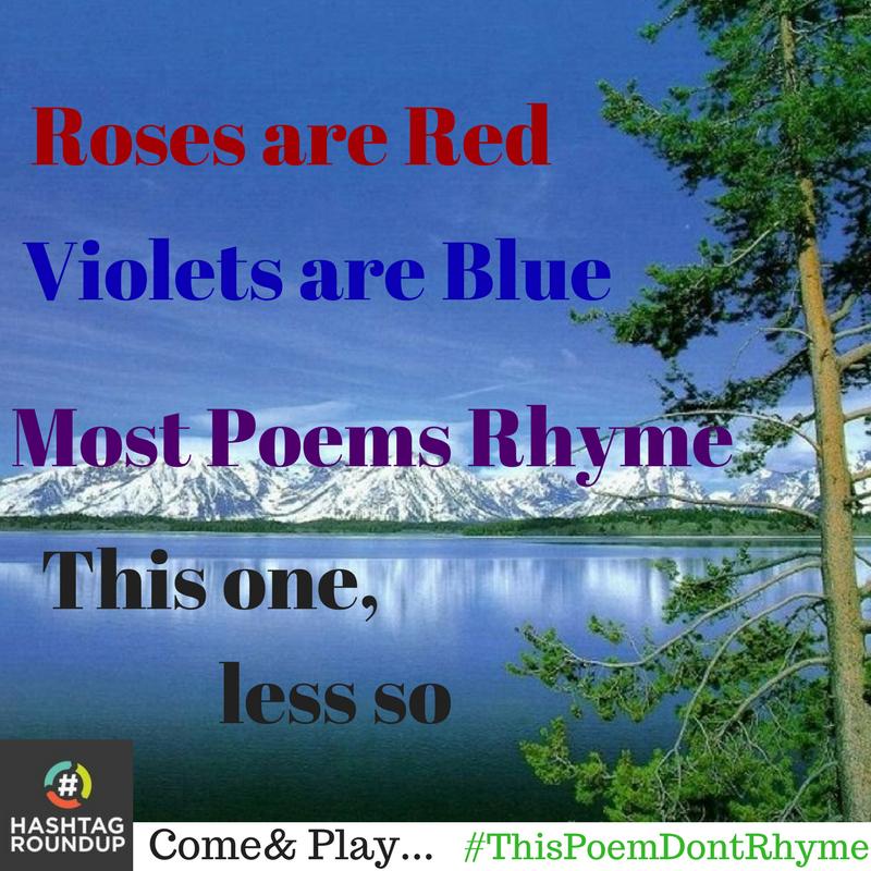 hashtag poem don't rhyme