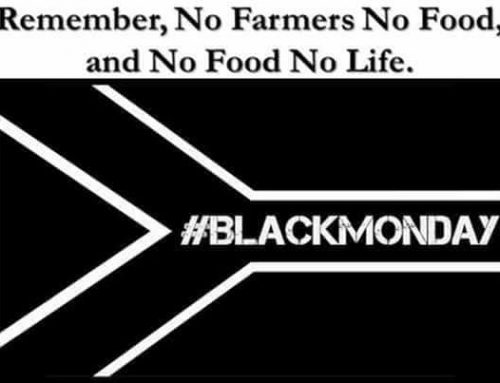 Some thoughts about wearing black on Monday for the farmers