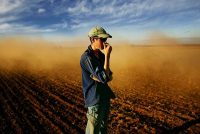 Farm dust cloud