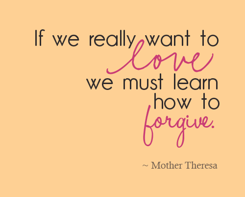 Forgiveness Mother Teresa