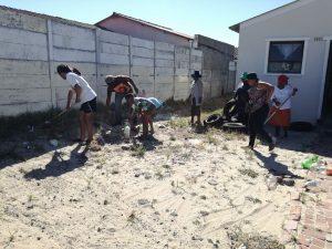 uJamaa Collective gardening team