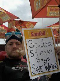 Scuba Steve save water