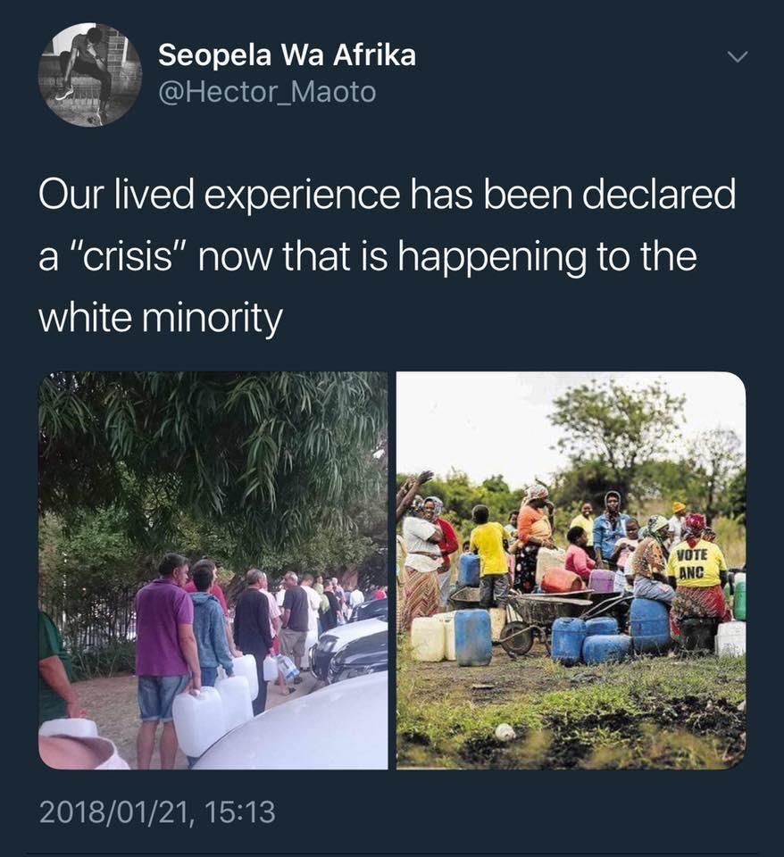 Water Crisis Cape Town Day Zero