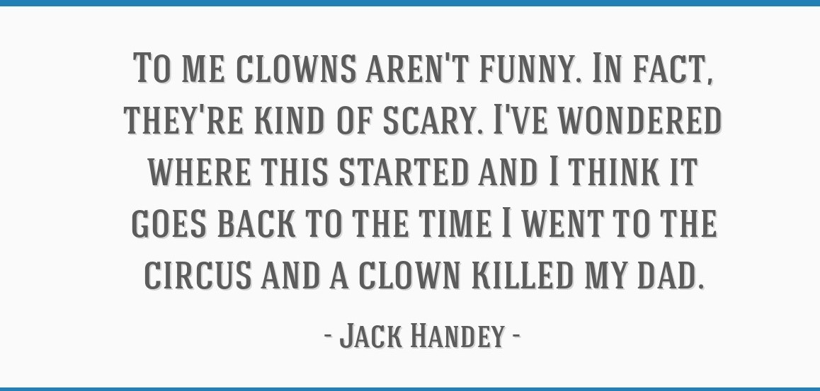 Jack Handey offensive clown