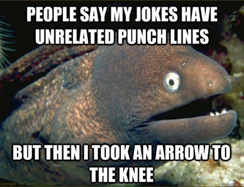 A Frikkin Hashtag: #JokeWithWrongPunchline
