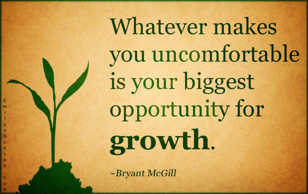 Uncomfortable quote