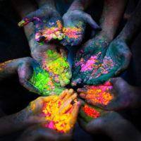 colour hands people race
