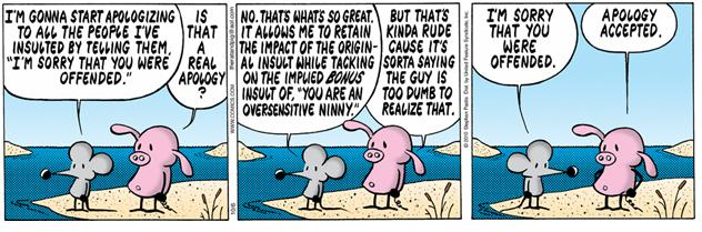 Pearls before swine sorry offended