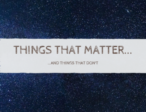 #ThingsThatMatter