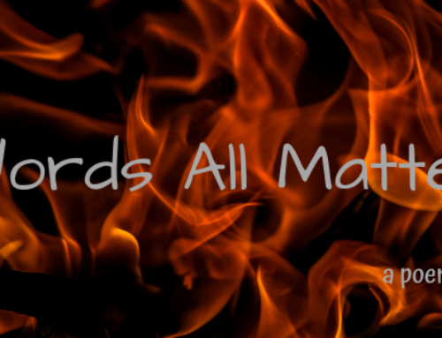 poem: words all matter